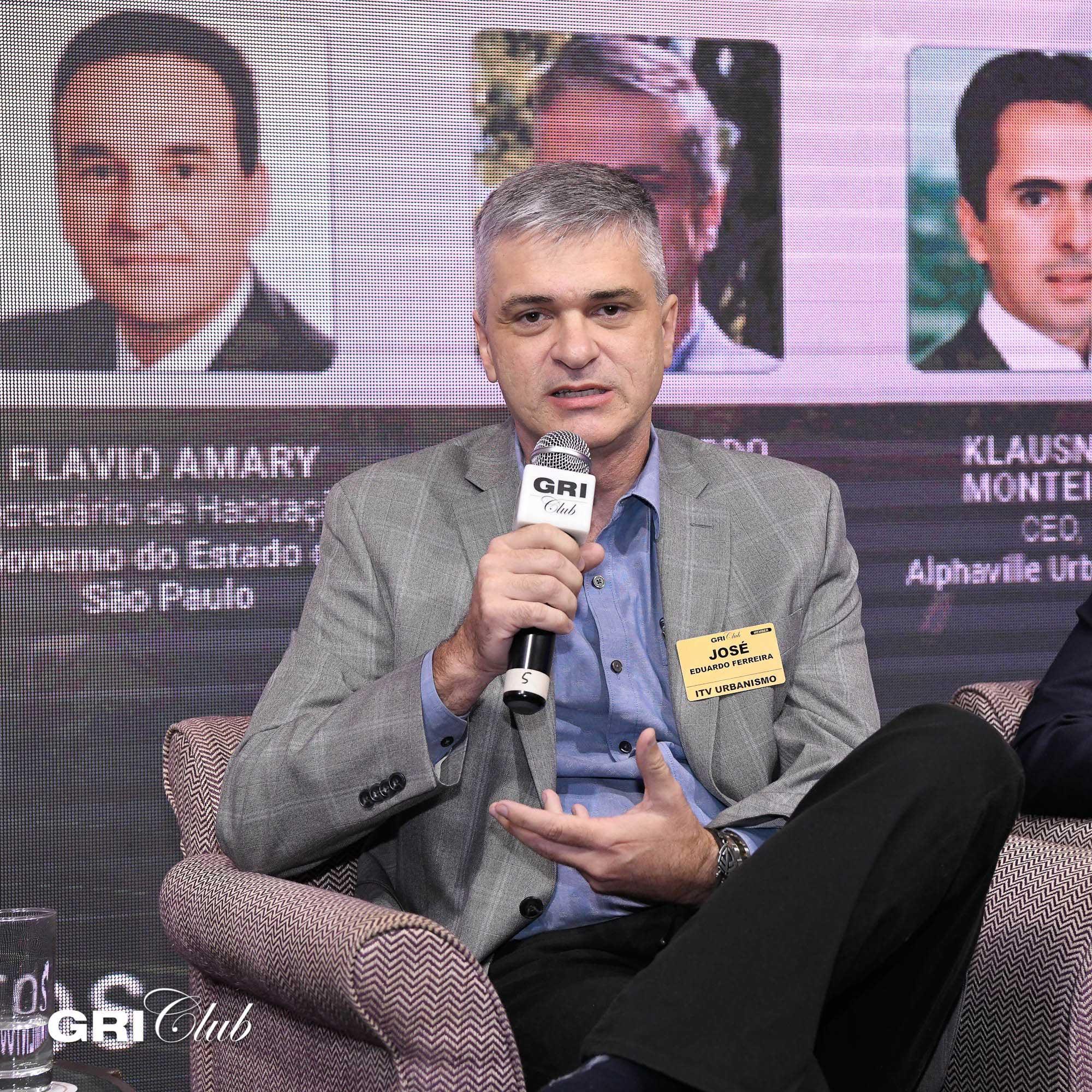 José Eduardo Ferreira, da ITV Urbanismo, durante o GRI Loteamentos 2019 | Crédito: GRI Club/Flavio Guarnieri