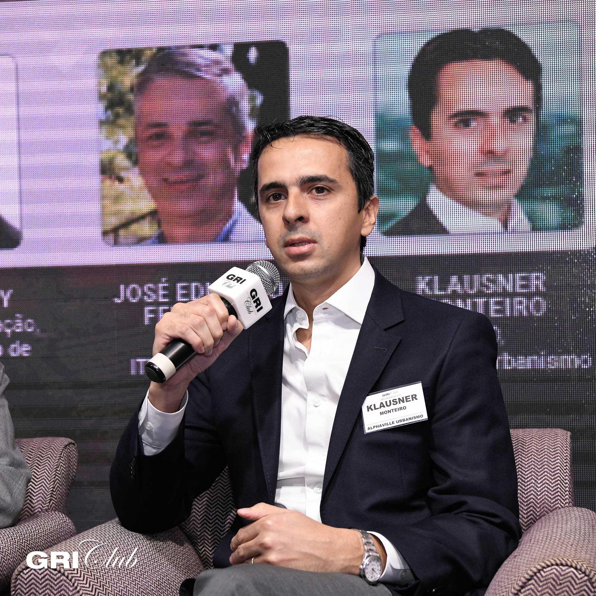Klausner Monteiro, da Alphaville Urbanismo, durante o GRI Loteamentos 2019 | Crédito: GRI Club/Flavio Guarnieri