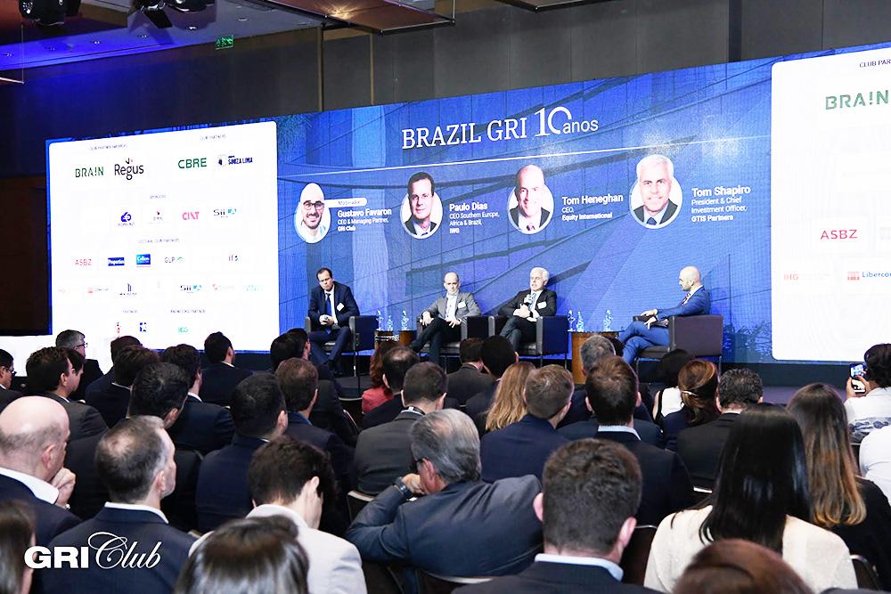 Paulo Dias (IWG), Tom Heneghan (Equity International), Tom Shapiro (GTIS Partners) e Gustavo Favaron (GRI Group) | GRI Club/Flavio Guarnieri